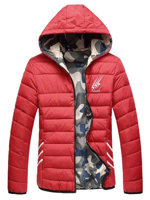 Affordable Reversible Style Camouflage Graphic Padded Jacket