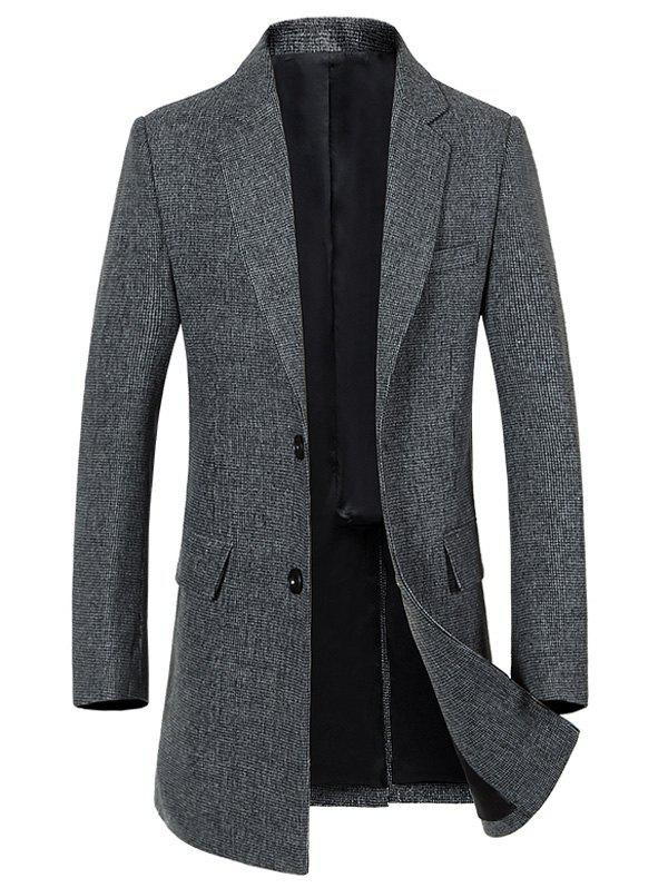 Outfit Single Breasted Longline Woolen Coat