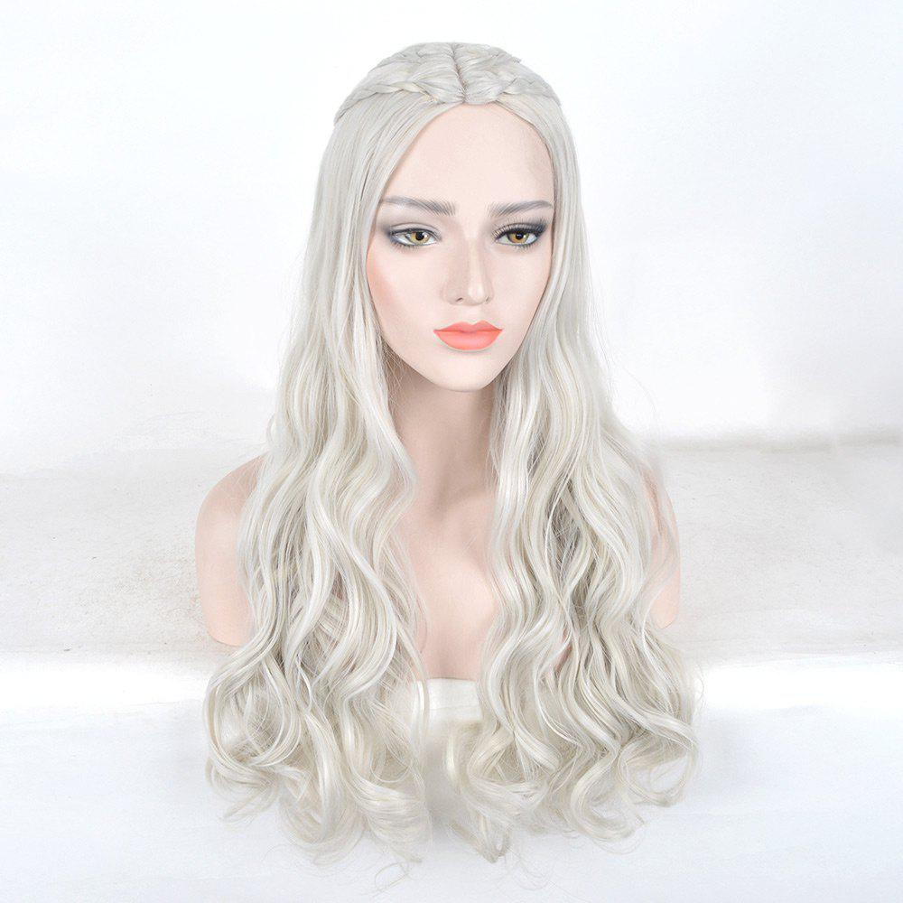 Discount Long Braids Wavy Game of Thrones Daenerys Targaryen Cosplay Synthetic Wig