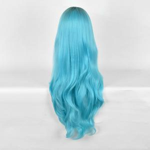 Long Center Parting Wavy Ombre Synthetic Party Wig -