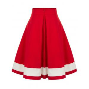 High Waisted Pleated Midi Skirt -