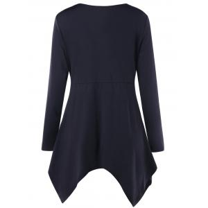 Plus Size Long Sleeve Twist Front T-shirt -