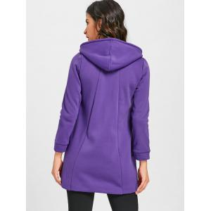 Long manteau zippé à capuche -