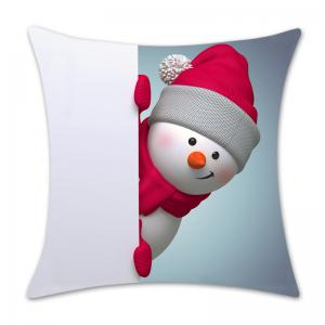Christmas Snowman Patterned Throw Pillow Case -