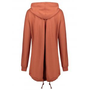 Zip Up Plus Size Hooded Coat -