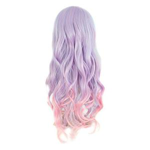Perruque Cosplay Colormix Synthétique Longue Neat Bang Wavy -