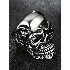 Stainless Steel Skull Cool Ring -