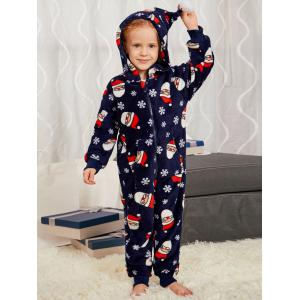 Santa Claus Pattern Matching Family Christmas Pajama Sets -