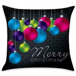 Christmas Ornament Hanging Balls Print Pattern Pillowcase -