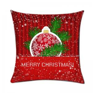 Christmas Snowflake Print Pattern Linen Pillowcase -