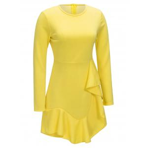 Long Sleeve Ruffle A-line Dress -