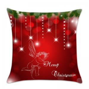 Christmas Angel Print Linen Pillowcase -