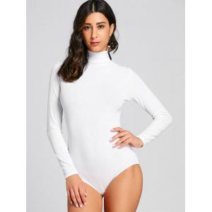 Mock Neck Ribbed Long Sleeve Bodysuit -