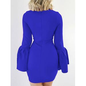 Petal Sleeve Fitted Bodycon Dress -