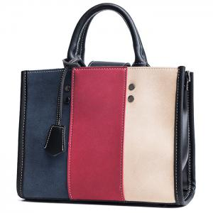Striped Color Block Stitching Handbag -