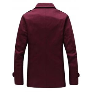 Epaulet Notch Revers Coupe Slim Fit -