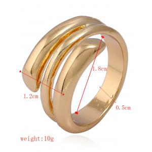 Alloy Simple Cuff Finger Ring -