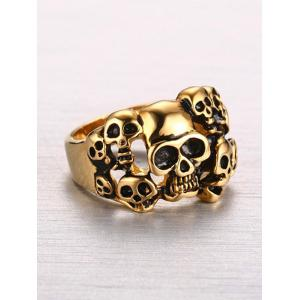 Stainless Steel Alloy Skulls Finger Ring -