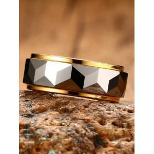 Two Tone Geometric Finger Ring -