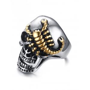 Skull Scorpion Stainless Steel Finger Ring -