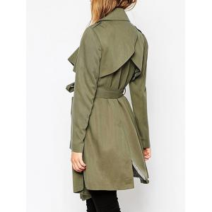 Belted Tunic Wrap Trench Coat -