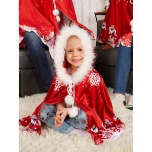 Velvet Print Matching Family Christmas Costume -