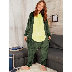 Dinosaur Animal Onesie Matching Family Christmas Pjs -