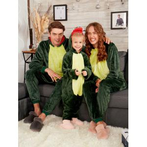 vert profond enfant 140 pyjama onesie de no l disosaure animal pour famille. Black Bedroom Furniture Sets. Home Design Ideas
