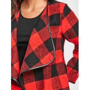 Turndown Collar Plaid Jacket -