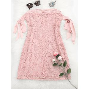Bowknot Lace Tube Mini Dress -