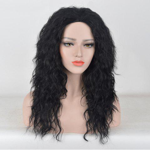 Unique Long Center Parting Fluffy Water Wave Synthetic Party Wig