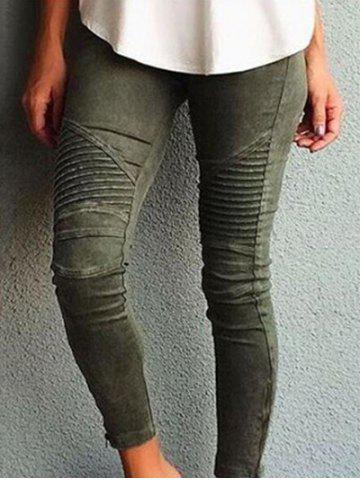 Trendy Side Zipper Embellished Skinny Jeans
