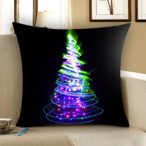 Unique Colored Christmas Tree Patterned Throw Pillow Case