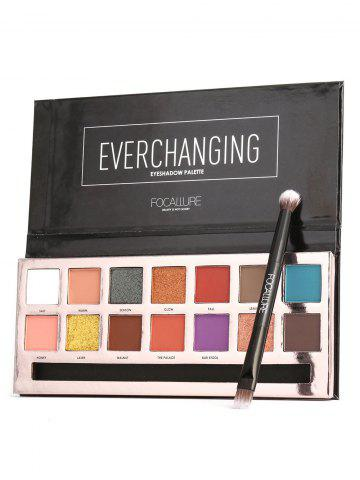 Cheap 14 Colors Professional Natural Long Lasting Eyeshadow Palette with Brush