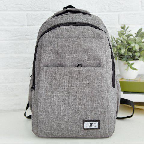 Chic Multi Function Zip Backpack With Handle