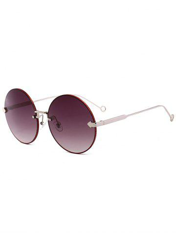 New Vintage Arrow Embellished Rimless Round Sunglasses