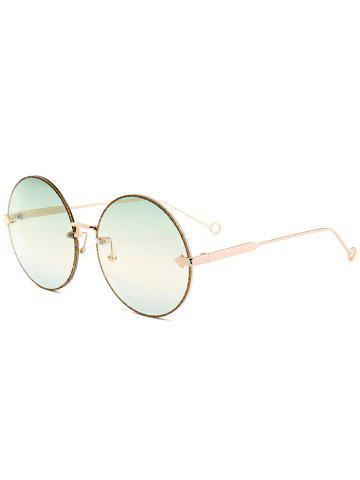 Discount Vintage Arrow Embellished Rimless Round Sunglasses
