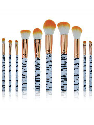 Outfits 10Pcs Zebra Stripes Pattern Embellished Makeup Brushes Set