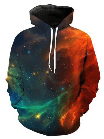 Sweat à capuche imprimé 3D Trippy coloré