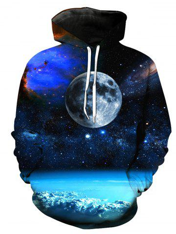 Shops 3D Moon Trippy Print Pullover Hoodie