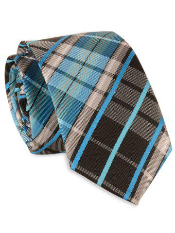 Unique 6CM Width Cross Striped Plaid Pattern Necktie