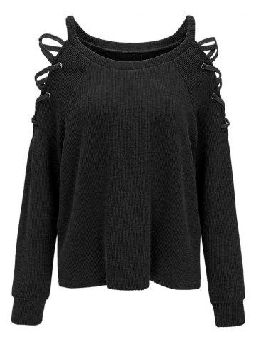Epaulière Cold Criss Cross Knitwear
