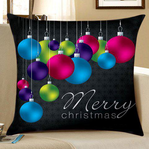 Fashion Christmas Ornament Hanging Balls Print Pattern Pillowcase