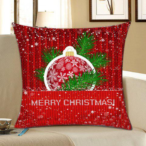 Online Christmas Snowflake Print Pattern Linen Pillowcase