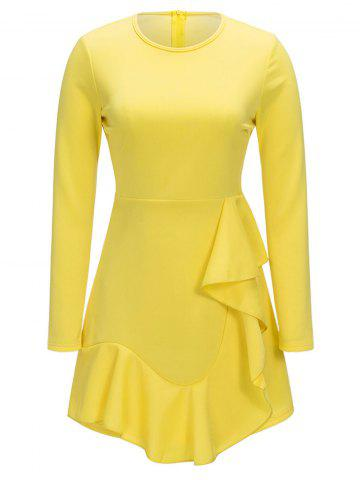 Buy Long Sleeve Ruffle A-line Dress