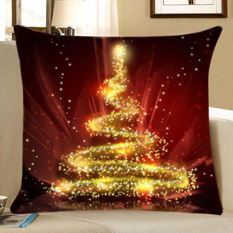 Best Christmas Sparkly Tree Print Decorative Linen Pillowcase