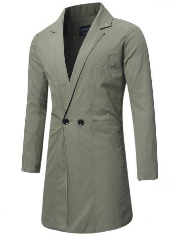 Trench-coat à Double Boutonnage Long
