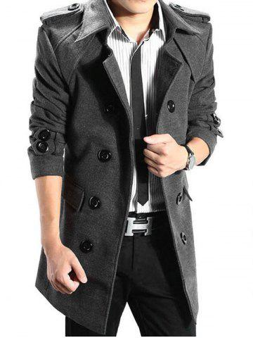 Trench-coat à Double Boutonnage en Laine