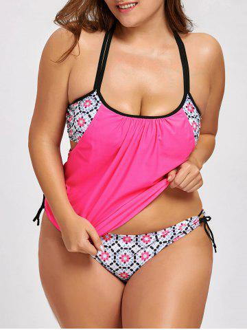 Outfits Plus Size Printed Blouson Tankini Swimsuit