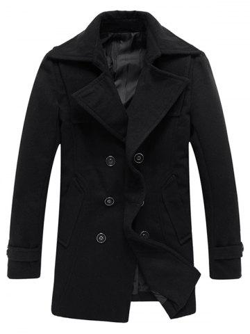 Woolen Blend Double Breasted Tall Peacoat